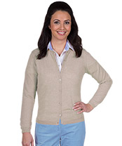Damen-Merino-Strickjacke,